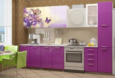 """Кухня """"Фиолетовые бабочки"""""""